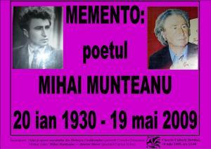 afis Poetul Mihai Munteanu2