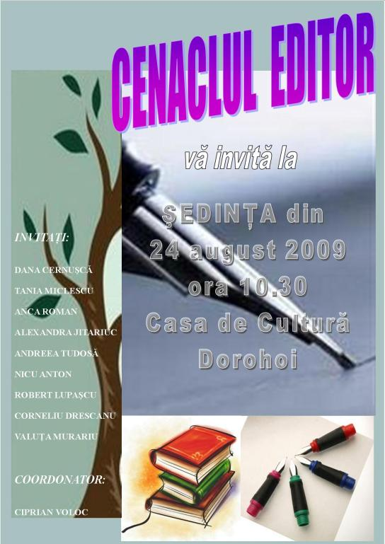 afis cenaclu EDITOR 2009