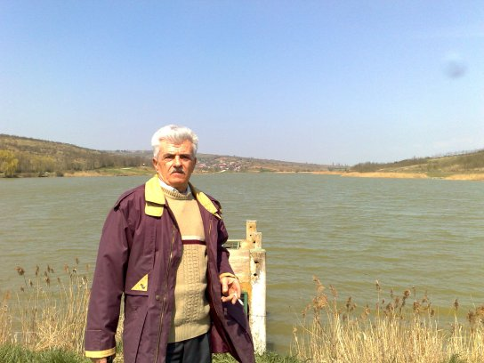Constantin Marin la lacul Ciric, 2009